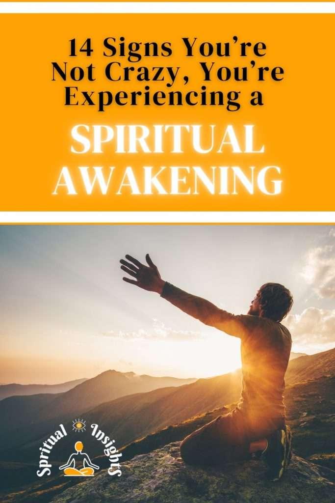 14 Signs You're Not Crazy, You're Experiencing a Spiritual Awakening Pin